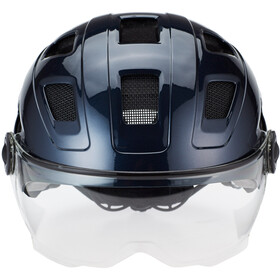 ABUS Hyban+ Kask rowerowy, midnight blue, clear visor